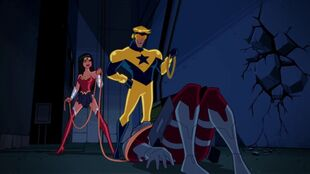 Booster Gold means no noose is bad noose for Wonder Woman.