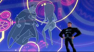 The Justice League fade away in the face of General Zod.