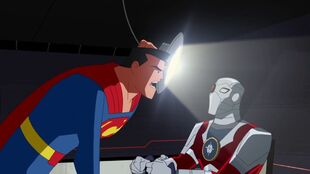Superman's interrogation is made light of by Deadshot.