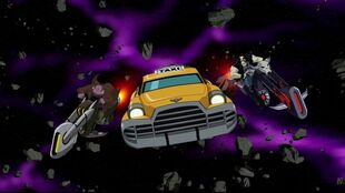 Lobo tells Space Cabby to pull over.