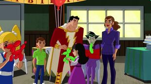 Shazam finds that Joker is a real gas at parties.
