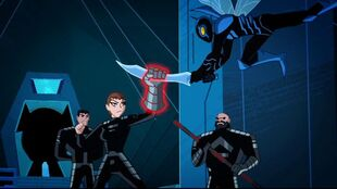 """General Zod is for the chop"" thinks Blue Beetle."