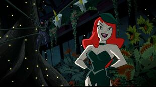 Poison Ivy is engaged but Batman keeps hanging around.
