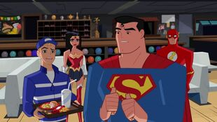 Superman guiltily admits he ordered the Super Size.