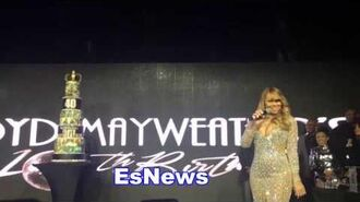 Floyd Mayweather - Justin Bieber Mariah Carey Fat Joe The Game Bobby Brown Too Short Preform esnews