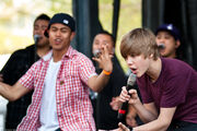 Justin performing at Easter Egg Roll, April 2010