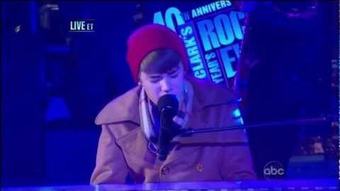 "Justin Bieber ""Let It Be"" Live From Times Square - New Year's Eve 2011 (HD)"