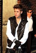 Justin Bieber Exits The Ed Sullivan Theatre