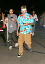 Justin Bieber and Mazy walking