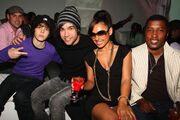 Justin Bieber at Island Def Jam Spring Collection party