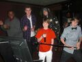 Justin Bieber doing karaoke with friends