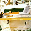 Justin Bieber on a yacht in Miami Beach 2014