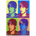 Justin Bieber Glow in the Dark Colors Poster