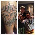 Lil Twist getting tattooed in Justin's house