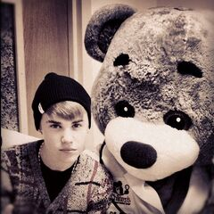 Justin and a cute bear