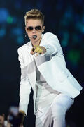 Justin Bieber performs at the AmericanAirlines Arena