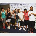 Justin Bieber with friends at Hard Rock Hotel