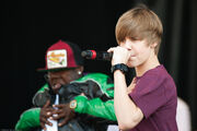 Justin Bieber performing at Easter Egg Roll 2010