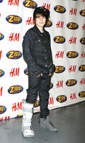 Justin Bieber 2009 Z100 Jingle Ball red carpet