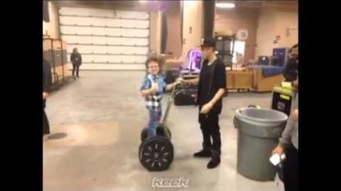 Segway Driving Lessons Part Two (Keenan Cahill and Justin Bieber)