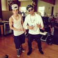 Justin Bieber and Maejor Ali January 2013