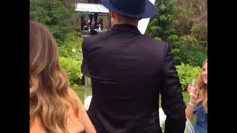 Justin Bieber at Scooter Braun's wedding