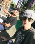 Justin Bieber takes a selfie with Alfredo Flores