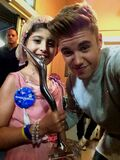 Justin Bieber with Grace July 2014