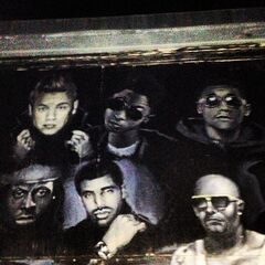 Justin Bieber on Mally Mall's studio wall