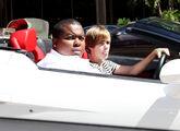 Justin Bieber in a Lamborghini 2010