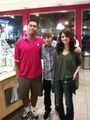 Justin Bieber with Selena Gomez at Menchie's