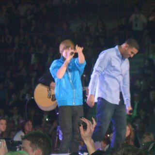Justin Bieber &amp; Drake performing at the <a href=