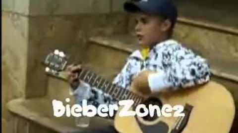 Justin Bieber busking in Stratford
