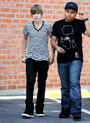 Justin and Alfredo Flores in LA, April 2010