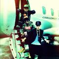 Justin, Lil Twist and Maejor on jet