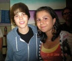 Fan meets Justin Bieber at Summer Rush 2009