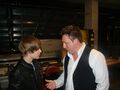 Justin Bieber with Johnny Reid at the Juno Awards