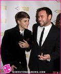 Justin Bieber at PoP Gala 2011 with Scooter Braun