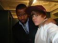 Justin Bieber and Kenny Hamilton at the Juno Awards