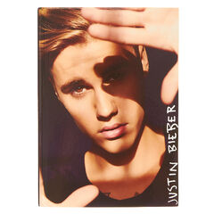 Justin Bieber Photo Notebook<br /><br />You'll flip for this wall canvas. Accented with glittery hearts, the wall canvas features a gymnast flipping on a balance beam with the phrase