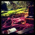 Justin having a picnic