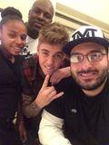 Justin Bieber with John May 2014