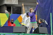 Justin Bieber performs during Arthur Ashe Kids' Day '09