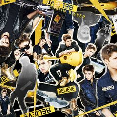 Collage of the singer, page 2 of Believe