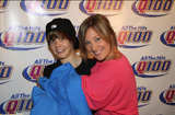 Justin Bieber, Wendy Adams, and a snuggie