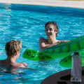 Justin Bieber and Matthew Espinosa in a pool 2015