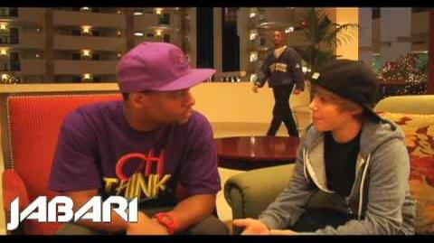 Jabari interviews Justin Bieber Before He Was Famous - Talks meeting Usher (2009)