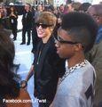 Justin Bieber and Lil Twist at the VMA's