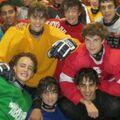 Justin Bieber ice hockey October 2010