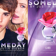 JUSTIN BIEBER Someday 2011 US recto-verso with scented strip (Sephora stores)